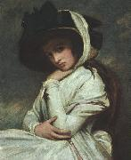 George Romney Lady Hamilton in a Straw Hat oil